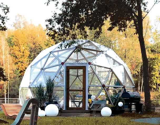 stiklinis kupolas