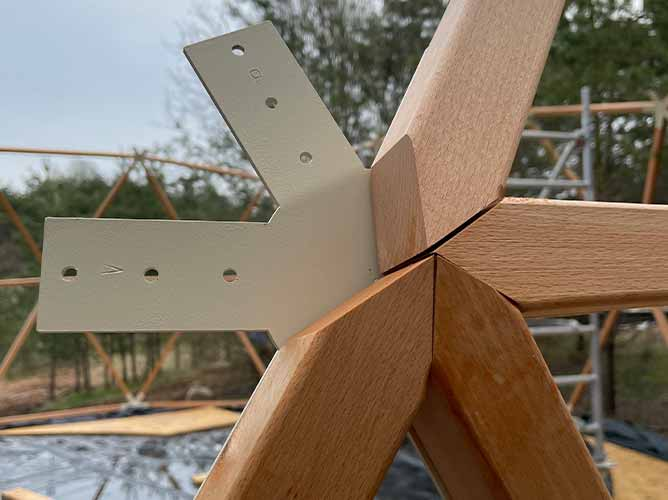wooden dome frame